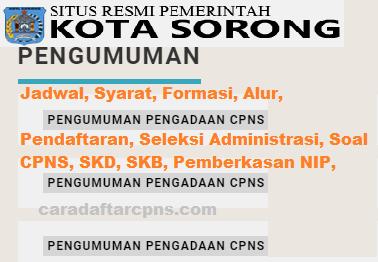 Pengumuman Hasil SKD CPNS PEMKOT SORONG 2021