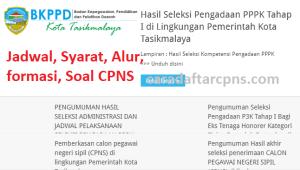 Pengumuman Hasil SKB CPNS Pemkot Tasikmalaya Formasi 2019