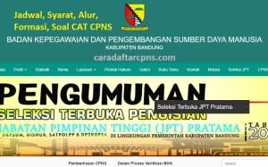 Jadwal Pendaftaran CPNS Kabupaten Bandung 2021 Lulusan SMA SMK D3 S1 S2