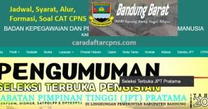 Pengumuman Hasil SKD SKB CPNS Kab Bandung Barat 2019 2020