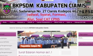 Jadwal Pendaftaran CPNS Kabupaten Ciamis 2021 Lulusan SMA SMK D3 S1 S2