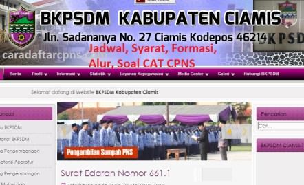 Pengumuman Hasil SKD CPNS KABUPATEN CIAMIS 2021
