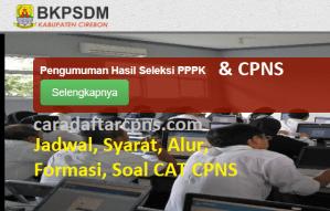 Jadwal Pendaftaran CPNS Kabupaten Cirebon 2021 Lulusan SMA SMK D3 S1 S2