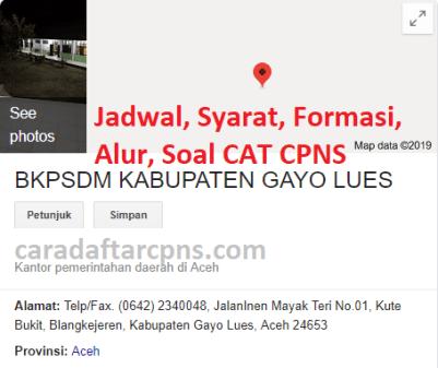 Jadwal Pendaftaran CPNS Kabupaten Gayo Lues 2021 Lulusan SMA SMK D3 S1 S2