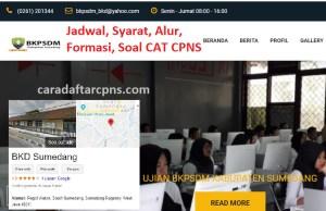 Pengumuman Hasil SKB CPNS Kabupaten Sumedang Formasi 2019