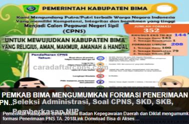 Pengumuman CPNS Kabupaten Bima 2021 Lulusan SMA SMK D3 S1 S2