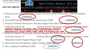 Pengumuman CPNS Kabupaten Bone 2021 Lulusan SMA SMK D3 S1 S2