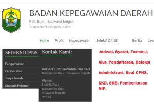 Pengumuman Hasil Seleksi Administrasi CPNS Kab Buol 2019