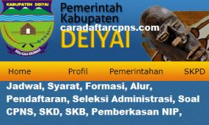 Pengumuman CPNS Kabupaten Deiyai 2021 Lulusan SMA SMK D3 S1 S2