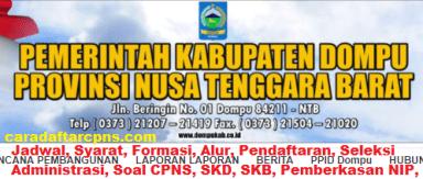 Pengumuman CPNS Kabupaten Dompu 2021 Lulusan SMA SMK D3 S1 S2