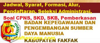 Pengumuman CPNS Kabupaten Fakfak 2021 Lulusan SMA SMK D3 S1 S2
