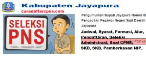 Pengumuman CPNS Kabupaten Jayapura 2021 Lulusan SMA SMK D3 S1 S2