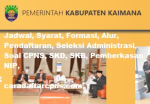 Pengumuman CPNS Kabupaten Kaimana 2021 Lulusan SMA SMK D3 S1 S2