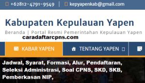 Pengumuman Hasil Akhir CPNS Kabupaten Yapen Formasi 2019