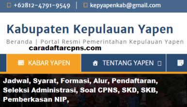 Pengumuman CPNS Kabupaten Yapen 2021 Lulusan SMA SMK D3 S1 S2
