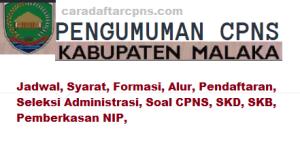 Pengumuman Hasil Akhir CPNS Kabupaten Malaka Formasi 2019