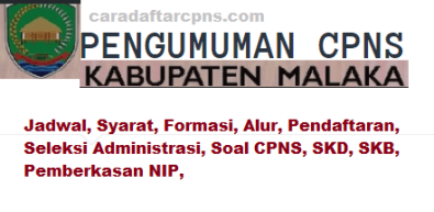 Pengumuman CPNS Kabupaten Malaka 2021 Lulusan SMA SMK D3 S1 S2