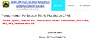 Jadwal SKB CPNS Kabupaten Manggarai 2019 2020