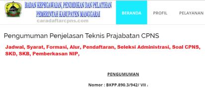 Pengumuman CPNS Kabupaten Manggarai 2021 Lulusan SMA SMK D3 S1 S2
