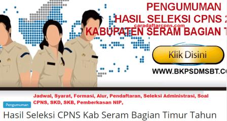 Pengumuman CPNS Kabupaten Seram 2021 Lulusan SMA SMK D3 S1 S2