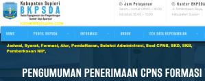 Pengumuman Hasil Akhir CPNS Kabupaten Supiori Formasi 2019