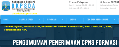 Pengumuman CPNS Kabupaten Supiori 2021 Lulusan SMA SMK D3 S1 S2