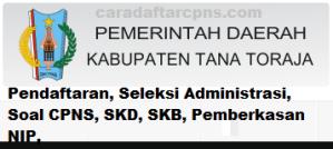 Pengumuman CPNS Kabupaten Tana Toraja 2021 Lulusan SMA SMK D3 S1 S2