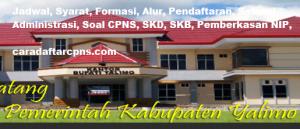 Pengumuman CPNS Kabupaten Yalimo 2021 Lulusan SMA SMK D3 S1 S2