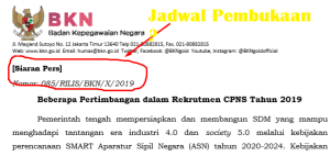 Pertimbangan dan Kebijakan Rekrutmen CPNS 2019