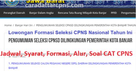 Hasil Seleksi Administrasi CPNS Pemkot Banjar 2021