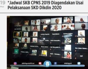 Tidak ada Rekrutmen CPNS Tahun 2020