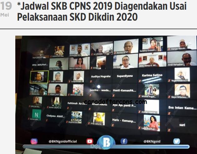 Jadwal SKB CPNS 2019 Setelah SKD Dikdin 2020