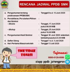 Jadwal pendaftaran SMK Negeri 2020/2021 Provinsi Jawa Tengah