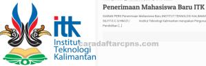 Pengumuman Hasil SBMPTN Institut Teknologi KALIMANTAN ITK 2020 2021