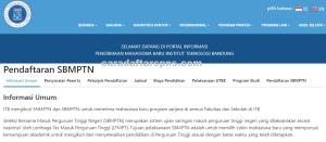 Pengumuman Hasil SBMPTN Institut Teknologi Bandung ITB 2020 2021
