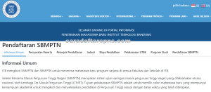 Pengumuman SNMPTN UTBK SBMPTN ITB 2021