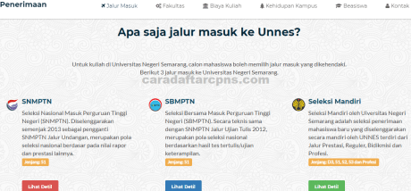 Pengumuman SNMPTN UTBK SBMPTN Unnes 2021