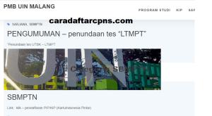 Pengumuman SNMPTN UTBK SBMPTN UIN Malang 2021