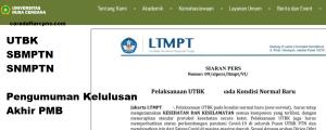 Pengumuman Hasil SBMPTN Universitas MATARAM Unram 2020 2021