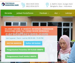 Pengumuman Hasil SBMPTN Politeknik Negeri Bengkalis Polbeng 2020 2021