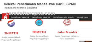 Pengumuman Hasil Seleksi Jalur Mandiri ISI SURAKARTA 2020