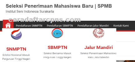 Pengumuman SNMPTN UTBK SBMPTN ISI Surakarta 2021