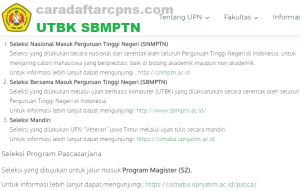 Pengumuman Hasil SBMPTN UPN VETERAN JAWA TIMUR 2020 2021