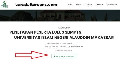 Pengumuman SNMPTN UTBK SBMPTN UIN Alauddin 2021
