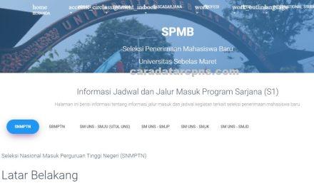 Pengumuman SNMPTN UTBK SBMPTN UNS 2021