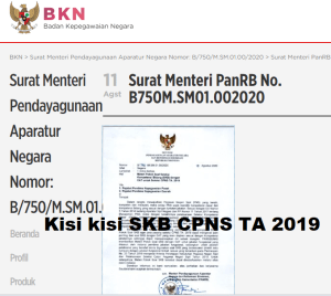 Download Kisi-Kisi Soal SKB CPNS 2019 2020