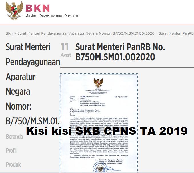 Download Kisi-Kisi Soal SKB CPNS 2019 2020 | Resmi dari BKN