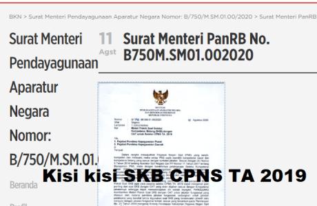 Download Kisi-Kisi Soal SKB CPNS 2019 2020
