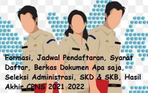 Pembukaan Pendaftaran CPNS 2021 April