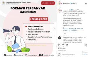 Formasi Terbanyak Favorit CPNS 2021